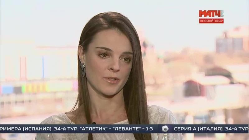 Эксклюзивное интервью доигровщицы Динамо Москва Яны Щербань на телеканале МАТЧ ТВ