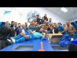 Раздевалка «Зенита» после выхода в плей-офф квалификации Лиги Европы