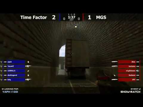 Шоу-Матч по CS 1.6 [Time Factor -vs- MGS] @ by kn1fe /2map