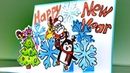 ВОЛШЕБНАЯ ❄ Новогодняя 3D ОТКРЫТКА своими руками