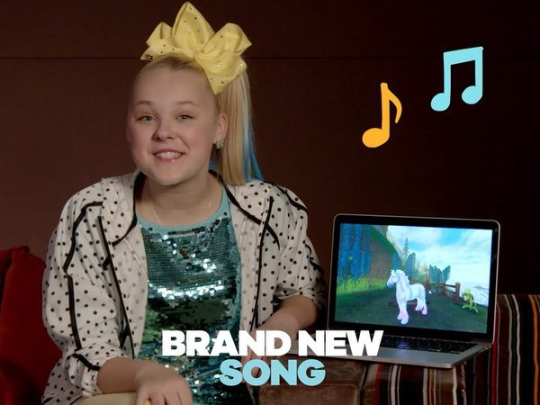 "JoJo Siwa on Instagram ""Ahhhhhhh I'm so excited my new song ""Every Girls a Super Girl "" comes out TOMORROW on the game Star Stable !🎉😘 Make sure t..."