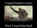 IRAQ TOPPLED SADDAM HUSSEIN NOW THEY WANT HIM BACK