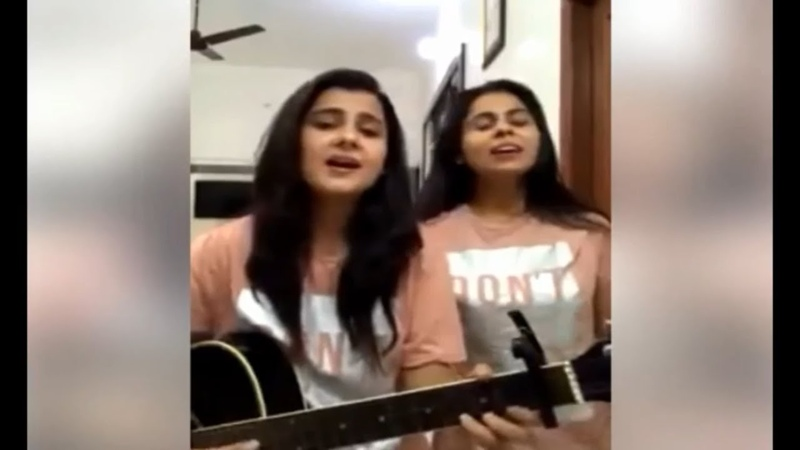 Ever the best Hindi song by cute twin girls(Latest part-1)