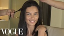 Adriana Lima Gets Ready for the Tom Ford Show | Vogue