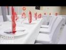 Банкетные чехлы из спандекса в кафе Золотой теленок, г.Красный Кут