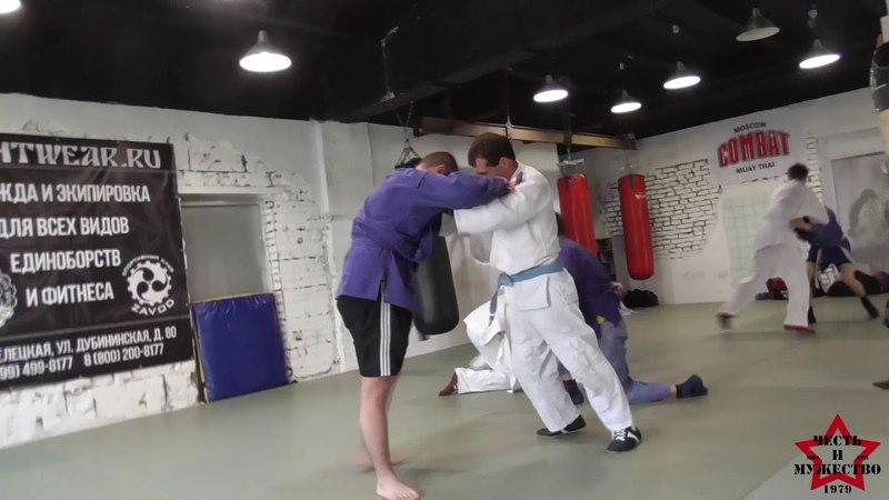 Спаринговая тренировка от 14 апреля, борьба в стойке.