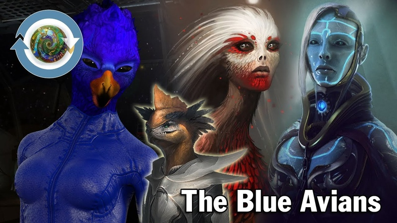 The Blue Avians with very high intelligence is leader of Galactic Federation team