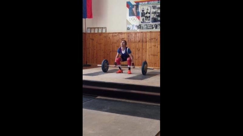 Валерия Щербакова толчок 68 кг Шахты 19 05 2018