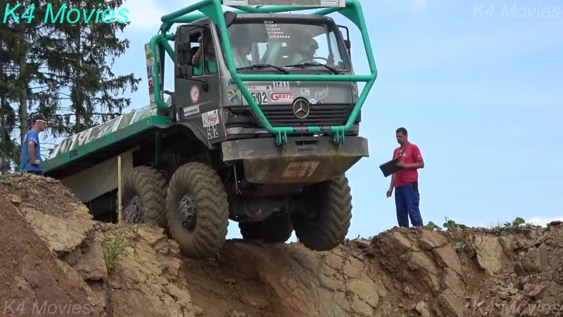 8X8 Mercedes-Benz truck in OffRoad, Truck trial _ Tegau, Germany 2017 _ no. 502
