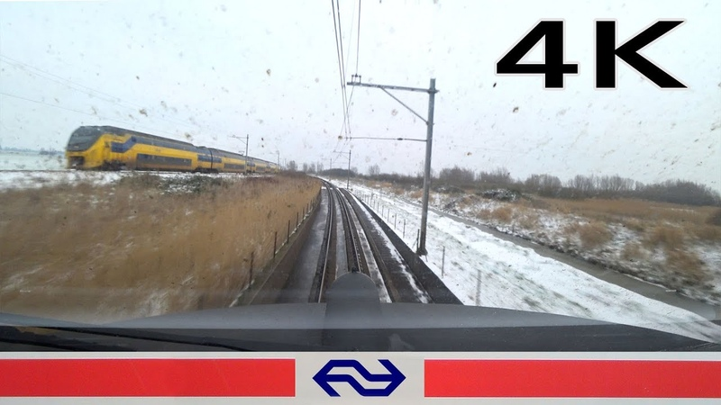 4K CABVIEW SNOWLAND Amsterdam - Almere ICM 23jan 2019