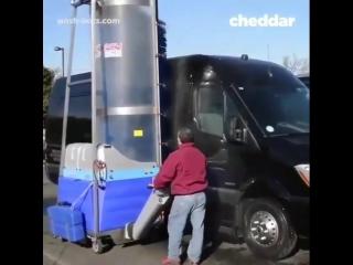 Удобная мойка для больших автомобилей и фур
