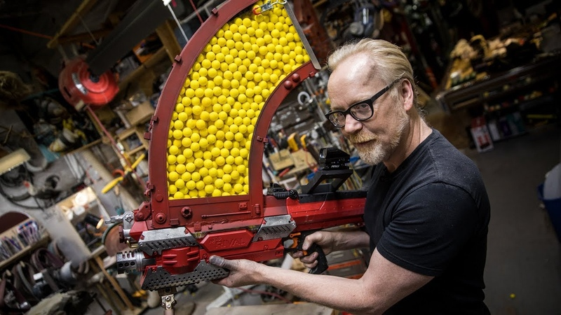 Adam Savages One Day Builds 1000 Shot NERF Blaster!