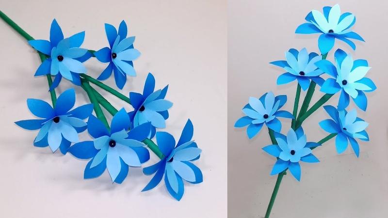 How to Make Very Beautiful Paper Stick Flower Stick Flower Handcraft Jarine's Crafty Creation