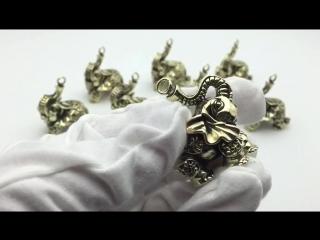 Латунь Lucky Money Благоприятный орнамент из слона Брелок для ключей EDC Keychain Multi Tools
