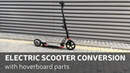 DIY Electric Scooter Conversion With Hoverboard Parts