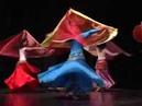 Danse orientale cours : Le double voile demi-circulaire par Myriam Douiou