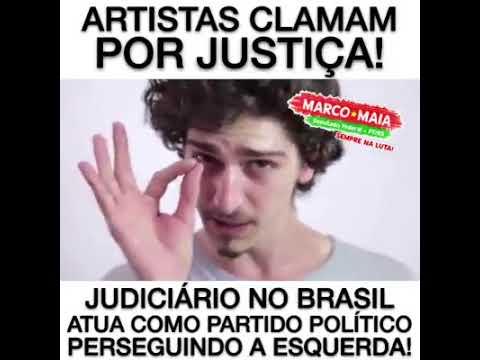 Artistas clamam por democracia e pedem que ocupamos as ruas por democracia.