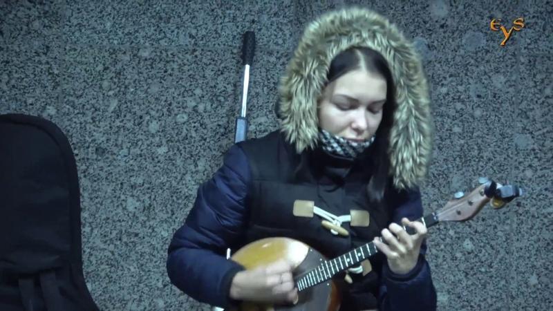 Уличные музыканты у Арбатской / Street musicians in Moscow