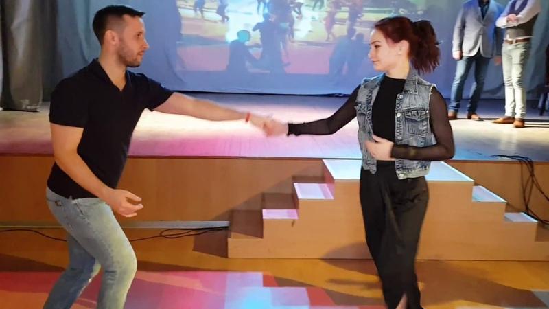 (Mobile Camera) Aleksandr Padurin and Nataliya Chumakova Salsa Dancing at Mambomania SPB 04.03.2018