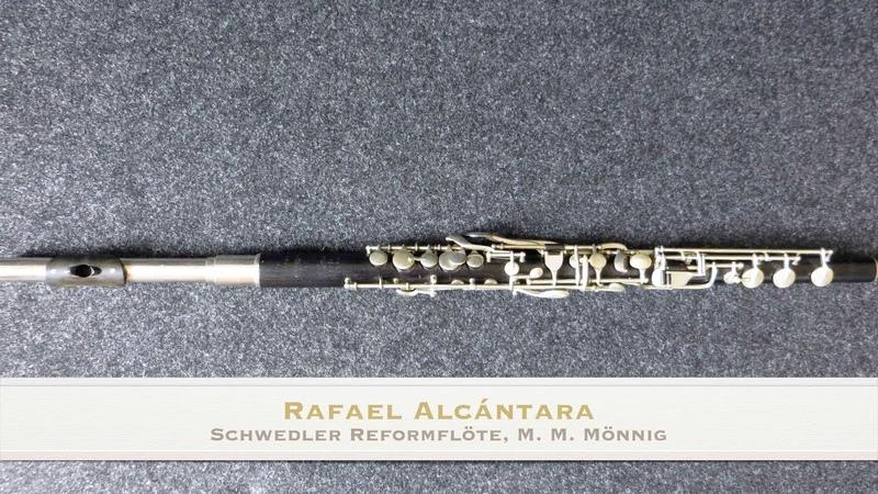 J. S. Bach Flute Sonata B Minor BWV 1030, I. Andante, Schwedler flute, Schwedlerflöte
