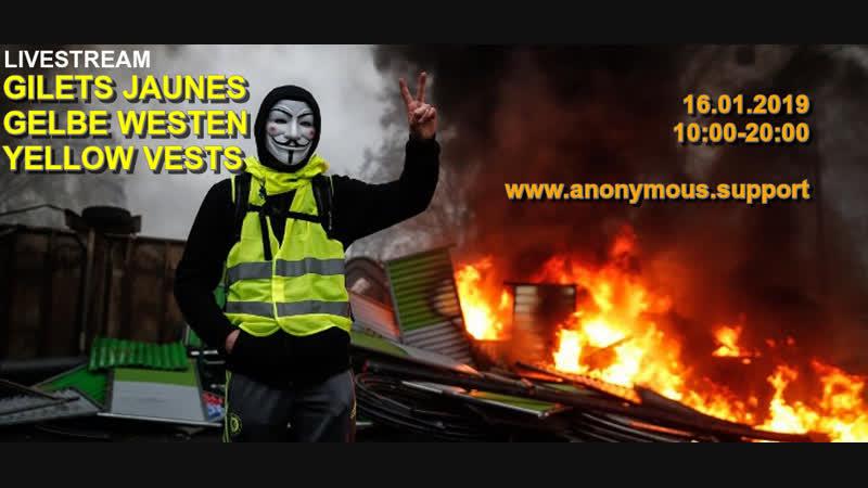 LIVE Gilets Jaunes Yellow Vests ACTE XIV