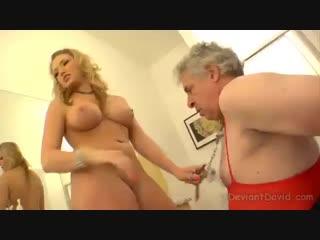 Обучение раба молодой Хозяйкой Training young slave mistress