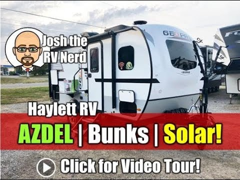 UPDATED 2019 Rockwood 16BH Geo Pro AZDEL Tiny Bunk RV with Roof Solar, Windshield, MorRyde Steps