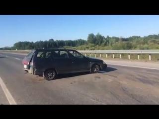 Дикая авария перед Воронинскими горками от Верхнего Бора