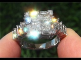 Certified Jewelry VS1G Natural Diamond 14k White Gold Engagement Cocktail Estate Ring - C896