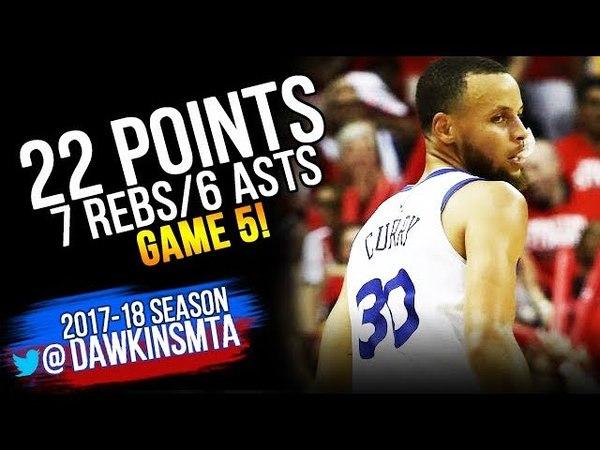 Stephen Curry Full Highlights 2018 WCF GM5 Golden State Warriors vs Rockets - 22-7-6!   FreeDawkins