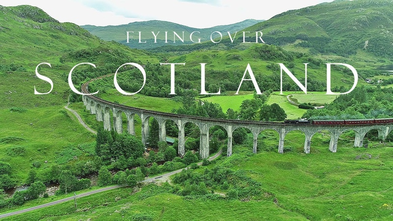 BEAUTIFUL SCOTLAND (Highlands Isle of Skye) AERIAL DRONE 4K VIDEO