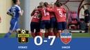 Голы в матче ЖФК Кузбасс - ЖФК Енисей - 0:7