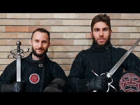Sidesword - HEMA sparring - Luca Basile VS Enrico Tomasi