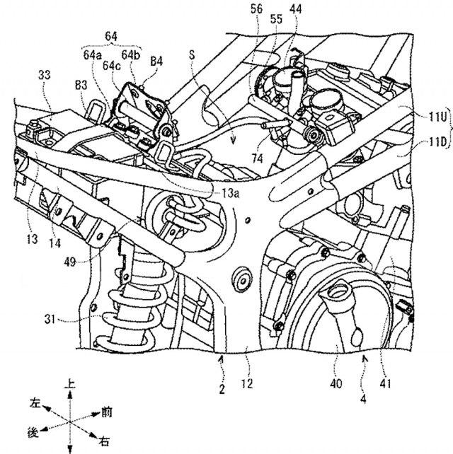 Патентные схемы Suzuki GSX-R300