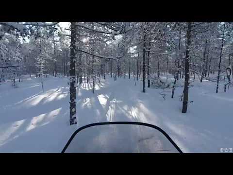 Зимняя дорога на озеро Сухое, на снегоходе Тайга Атака 2.