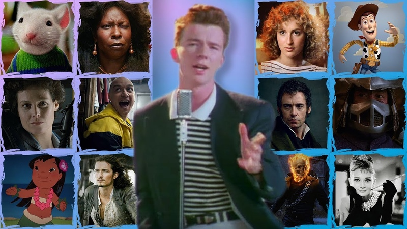 Rick Astley's 'Never Gonna Give You Up' Sung by 169 Movies!