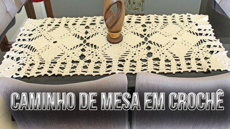 CAMINHO DE MESA EM CROCHÊ/ DIANE GONÇALVES