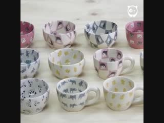 Керамика в технике нерикоми от японского художника-керамиста Tomoro