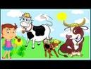 Детское видео | Название и звуки домашних животных | Мультик