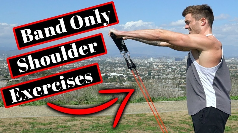 V Shred At Home Shoulder Workout 6 Shoulder Exercises w Resistance Bands