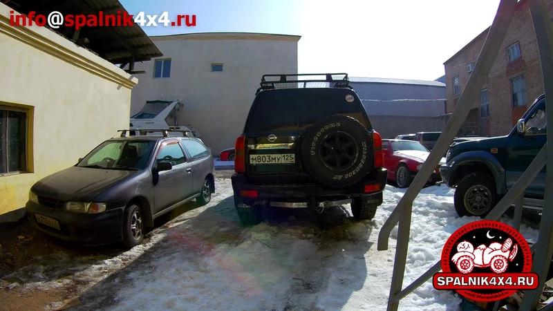 Установка автомобильного спальника в Nissan Patrol Y61 с нестандартным салоном