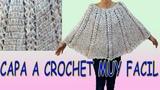 capa a crochet - muy facil y rapida de tejer -tejido a ganchillo - crochet winter shrug shawl