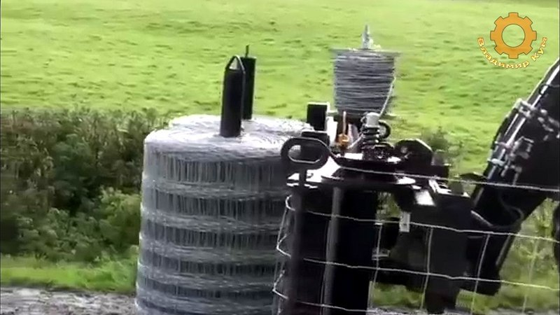 Как делают ограду из сетки и колючей проволоки
