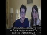 Брайан Декарт (Connor) и Амелия Роуз Блэр (Tracy) Реакция на подарок от Русского фендома по Детройт: Стать Человеком