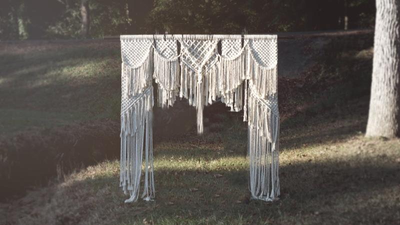 HOW TO DIY Macrame Wedding Backdrop