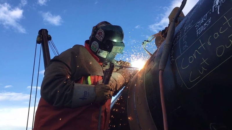 Hill Section Cut Out And Weld Pipeline Welding