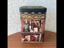 264. Декор старой банки под сыпучее. Декупаж, точечная роспись и обьемное декорирование.