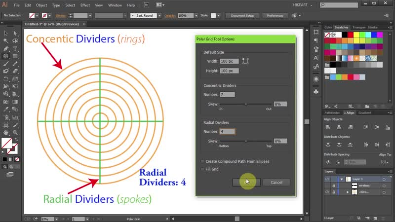 [4][103.30 F] how to draw wifi signal icon in adobe illustrator 2