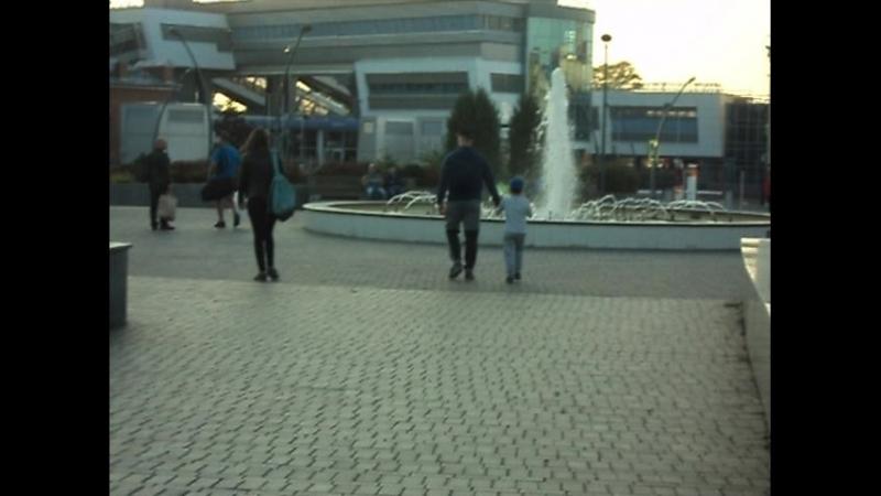 фонтан у вокзала города Казани