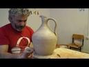 Создание кувшина из шамотной глины